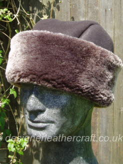 Brown Brisa Sheepskin Hat